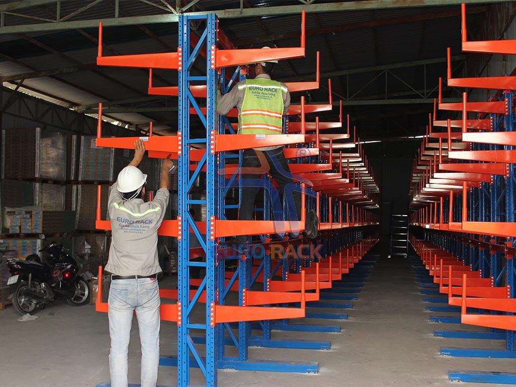 Công trình kệ tay đỡ cho kho hàng quận Tân Bình, Tp.Hồ Chí Minh